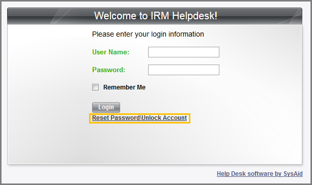 Link That Is Located At The Blackboard Login Page. You Will Be Led In The  IRM Helpdesk System. Click The Reset Password\Unlock Account Link And The  Reset ...