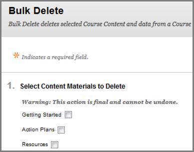 Blackboard Learn 9 Staff Guide - Bulk Delete Course - YouTube