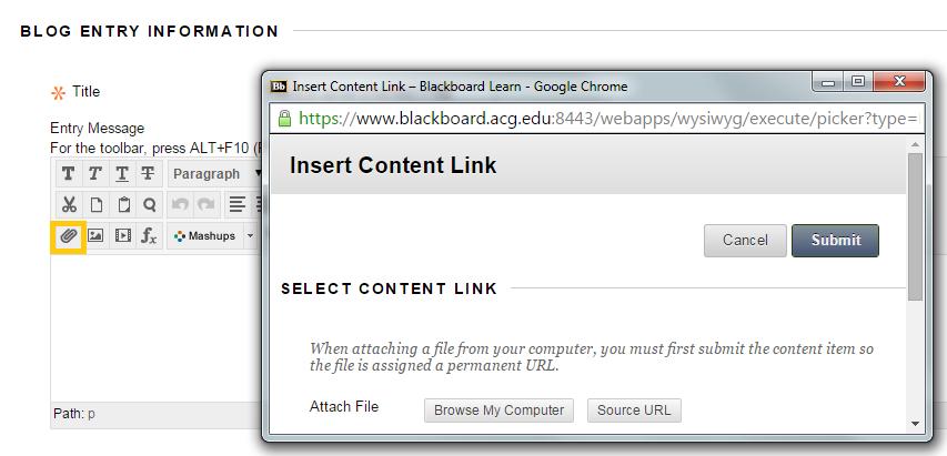 Add a file via the Content Editor - VTBE