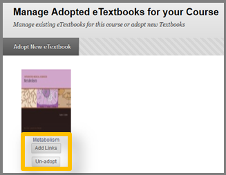 Manage Adopted Textbooks