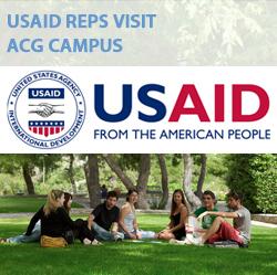 USAID reps visit ACG campus