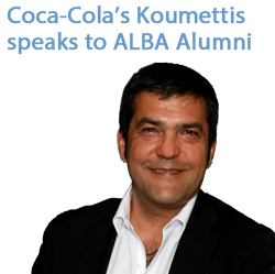 Coca-Cola's Koumettis (DEREE '86) speaks to ALBA Alumni