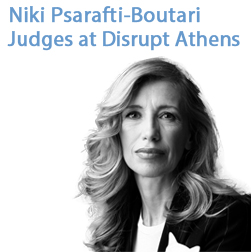 Niki Psarafti-Boutari (PIERCE '71) Judges at Disrupt Athens
