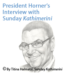 President Horner's Interview with Sunday Kathimerini