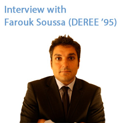 Interview with  Farouk Soussa (DEREE '95)