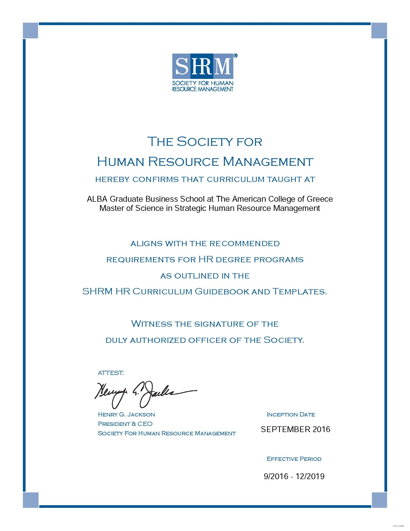High Praise For The Msc In Strategic Human Resource Management
