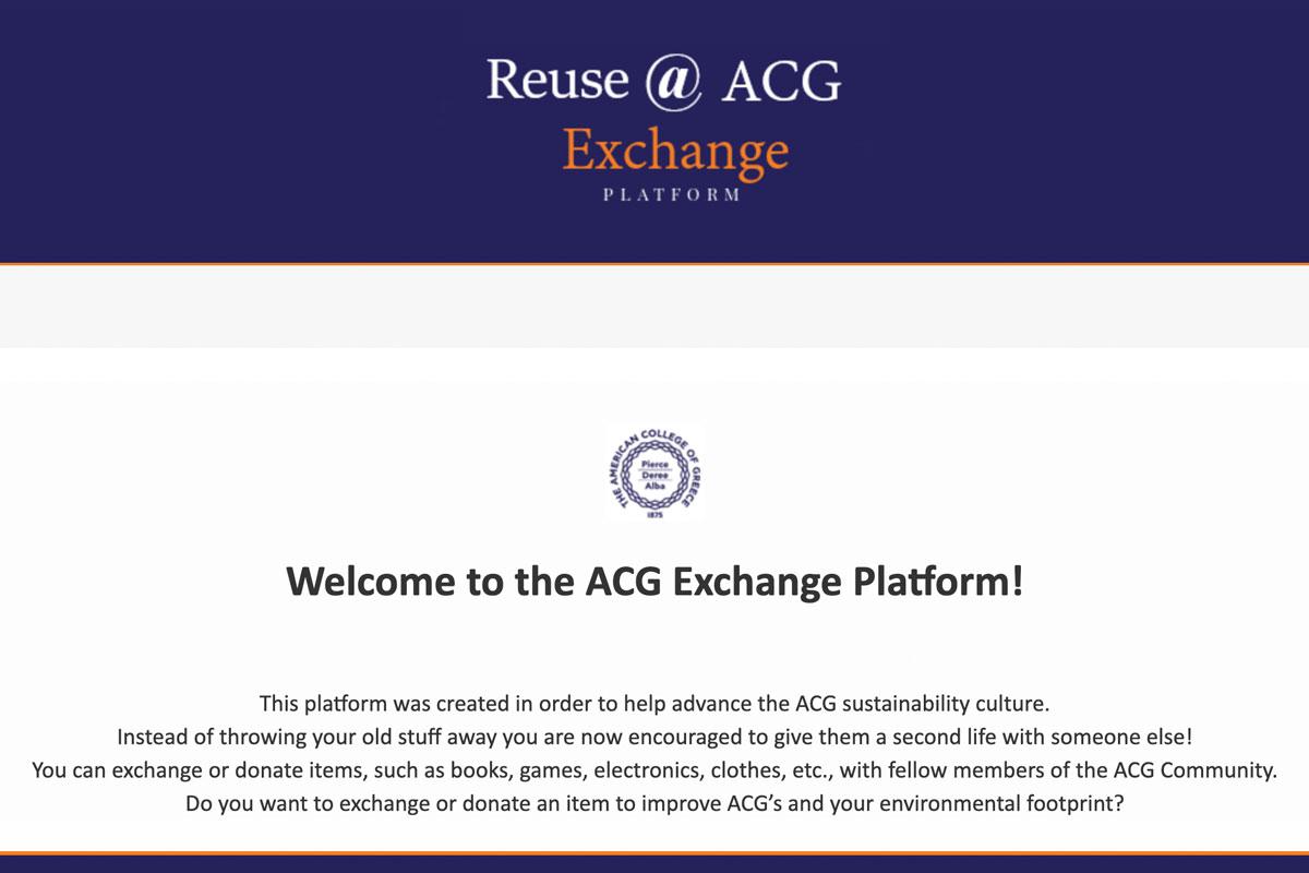 Reuse at ACG Exchange Platform