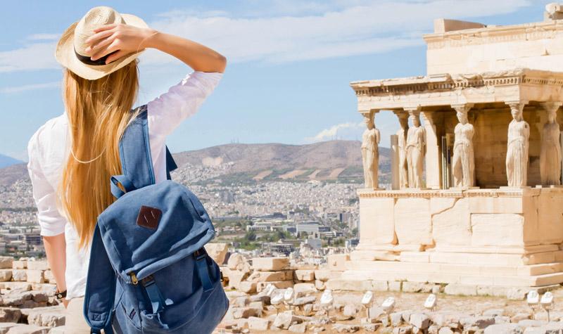 girl at Acropolis Athens Greece