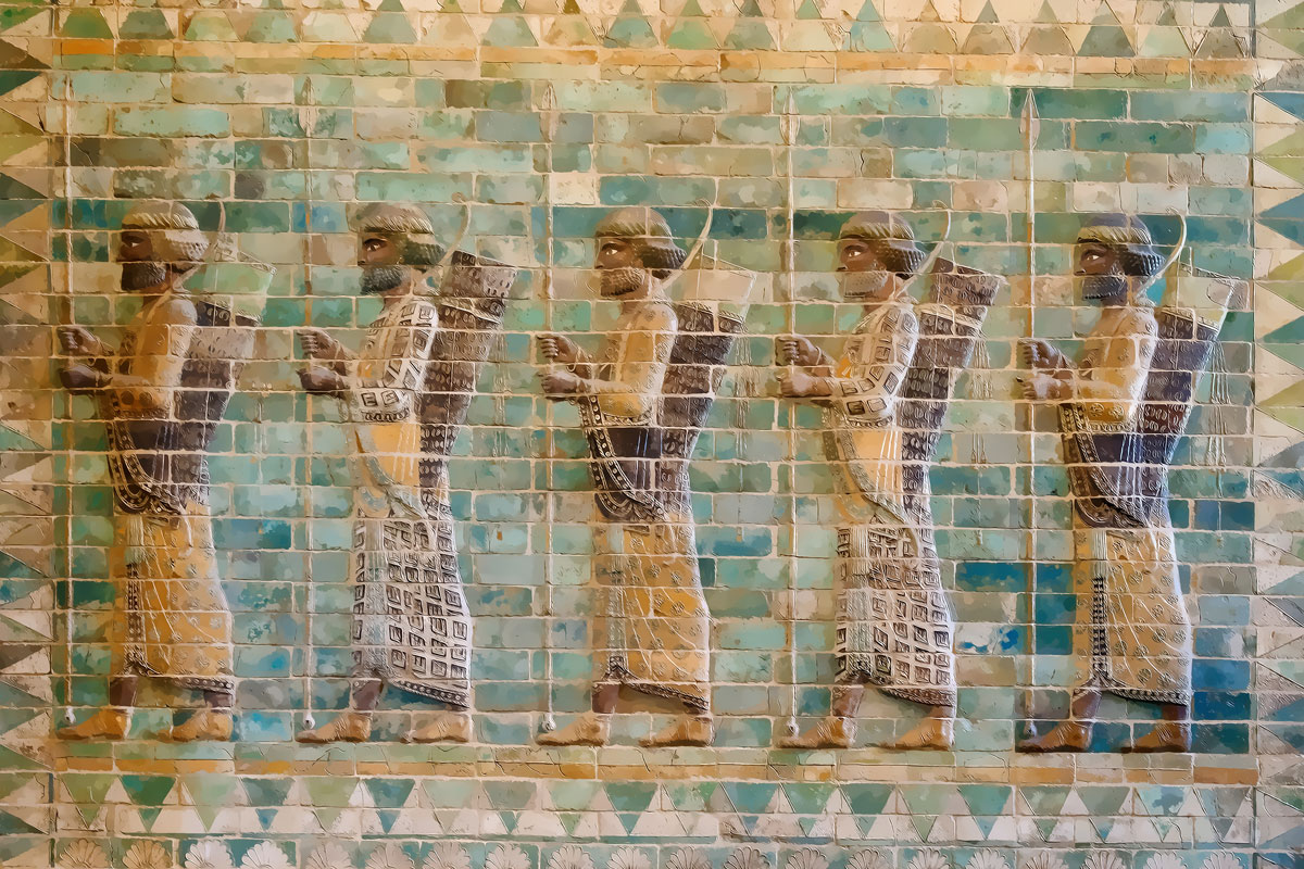 Ancient Persian Achaemenid soldiers